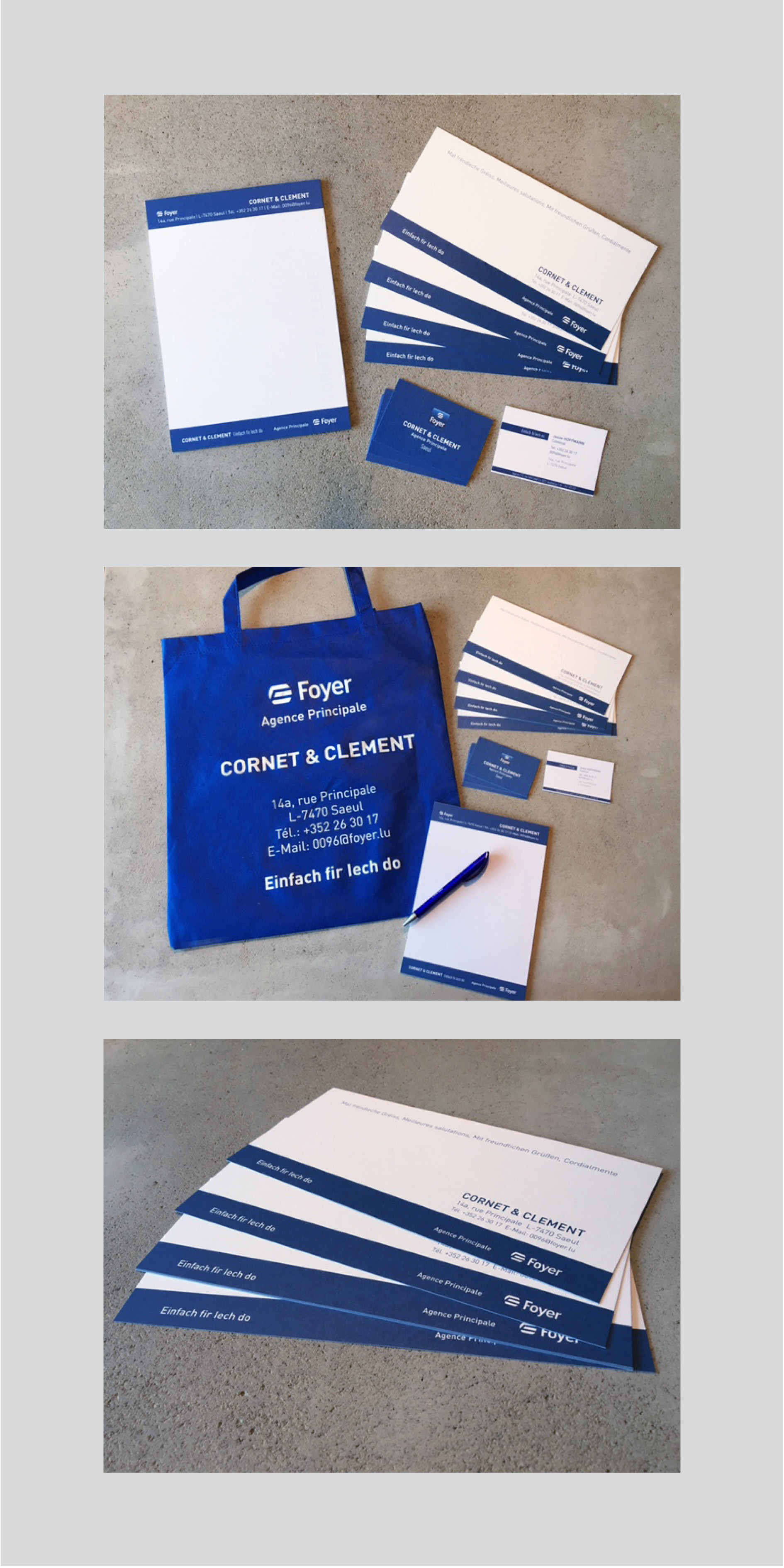 Jacoby candy agence cornet clement merchandise shopping bags and pens business cards notepad writing pad and best wishes note cards for foyer agence cornet clement reheart Image collections
