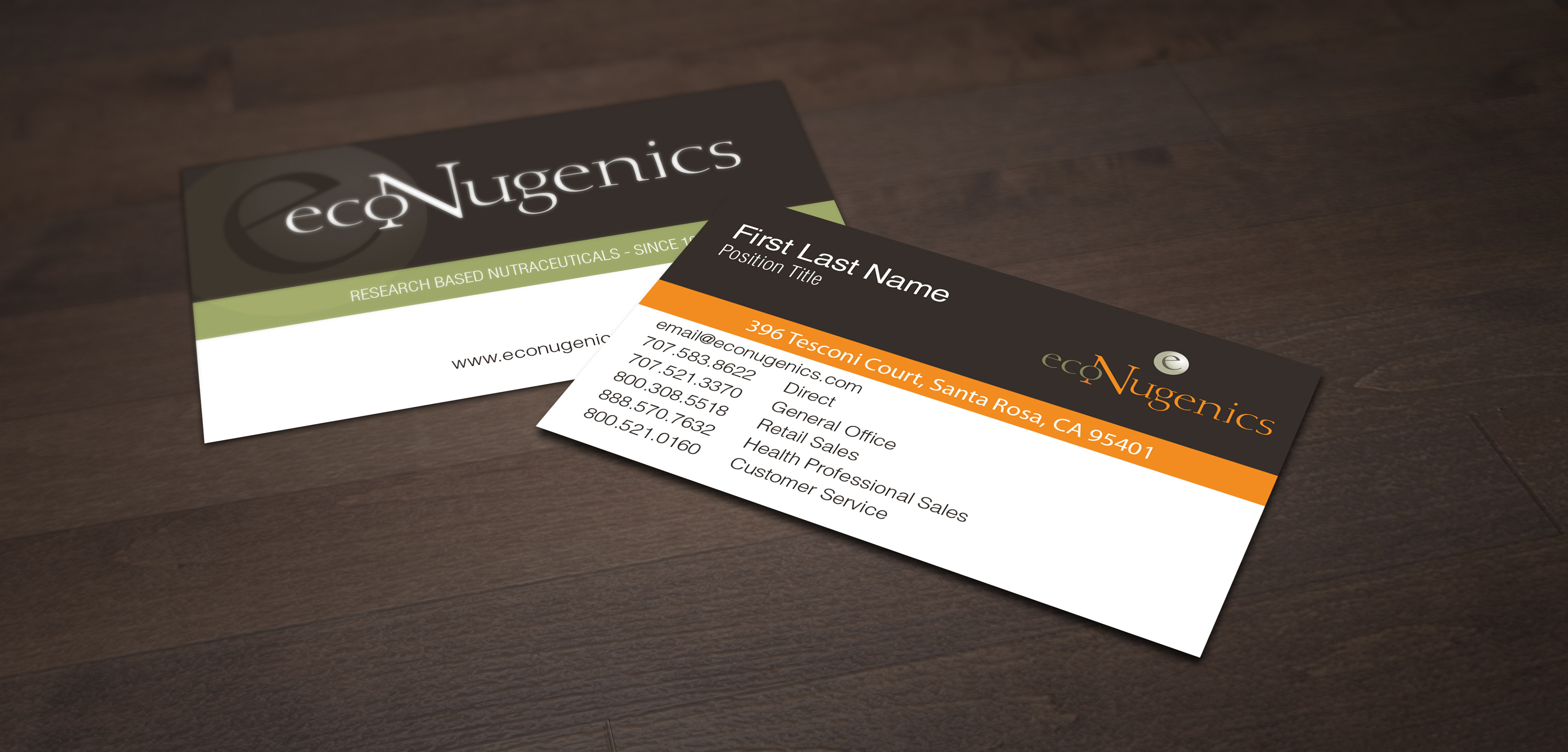 Rod Encarnacion - ecoNugenics - Business Card Re-Design