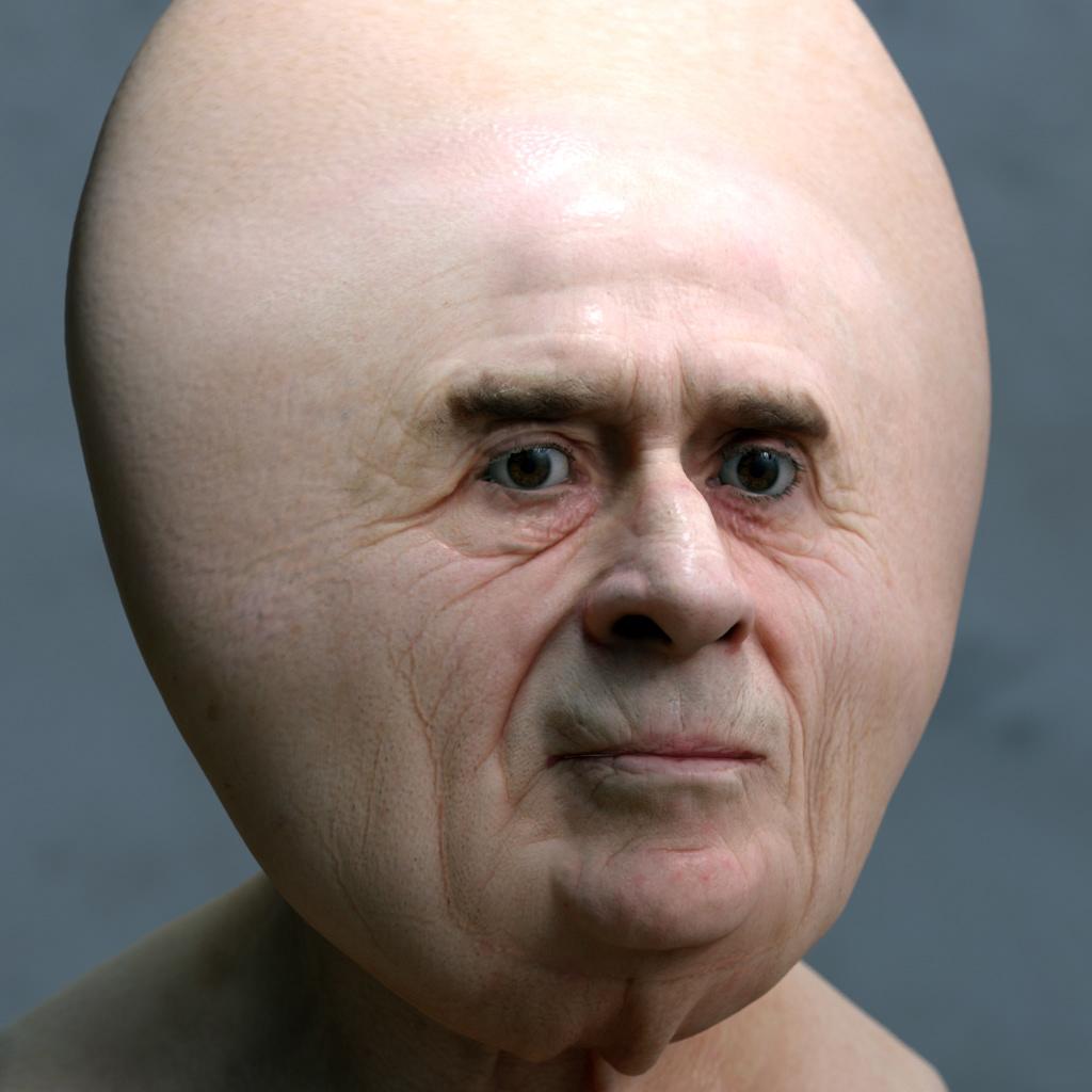 deformed face man - HD1024×1024