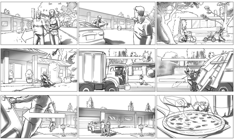 Commercial Storyboard   Leeahd Goldberg Commercial Storyboard Samples