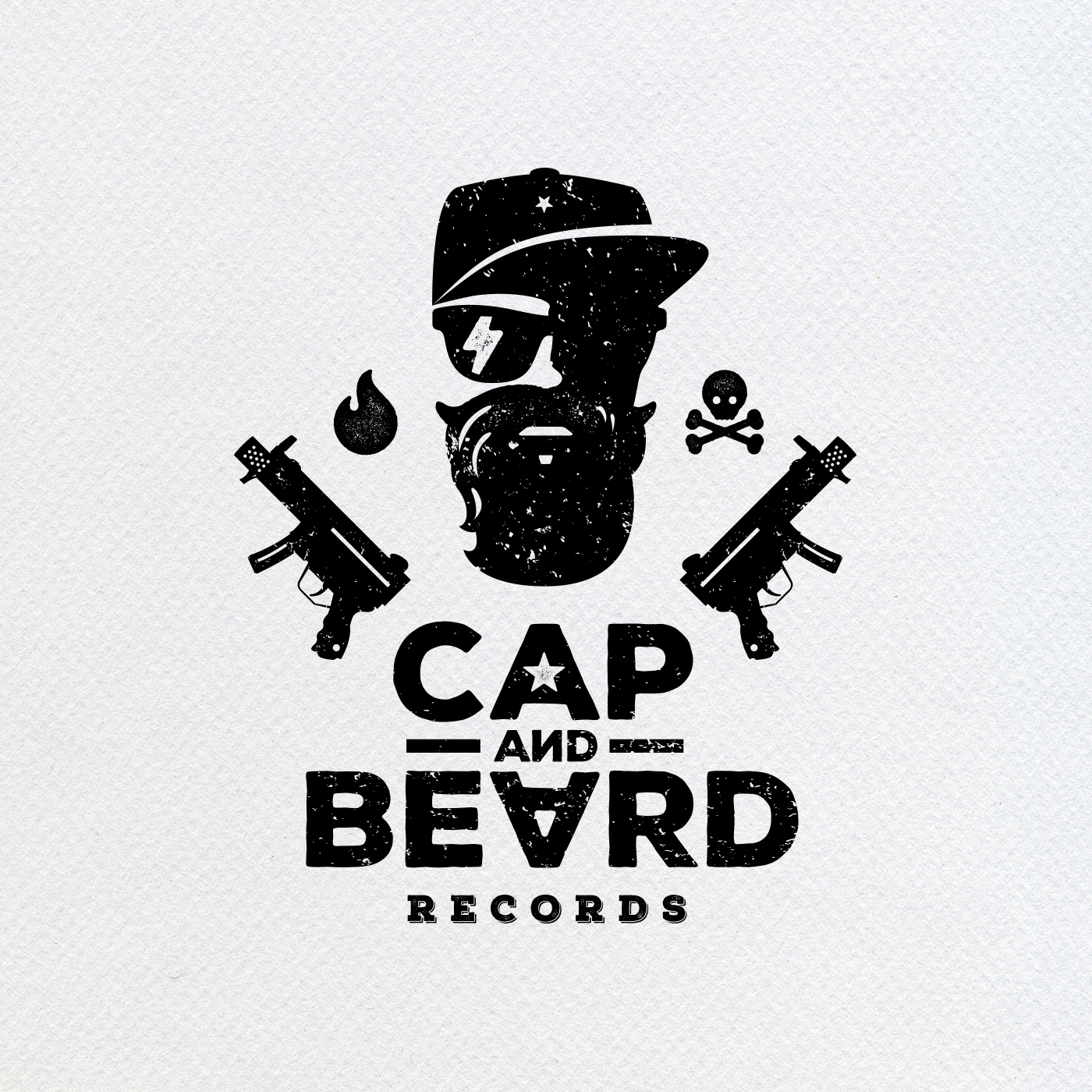 Alexey Zinoviev graphic design - Cap   Beard logo 66b3eb639a7