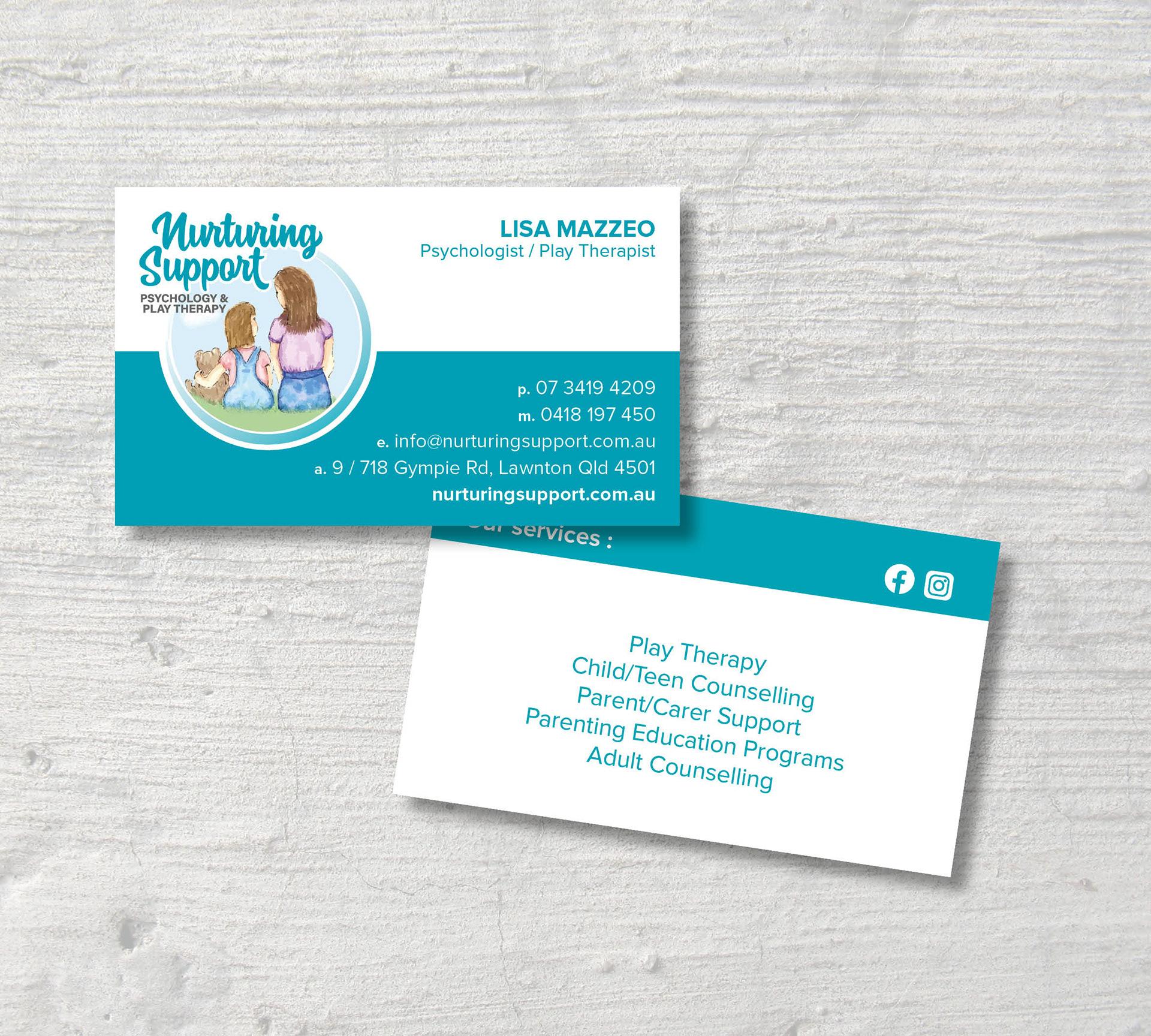 Creative Peek North Lakes Business Card Design
