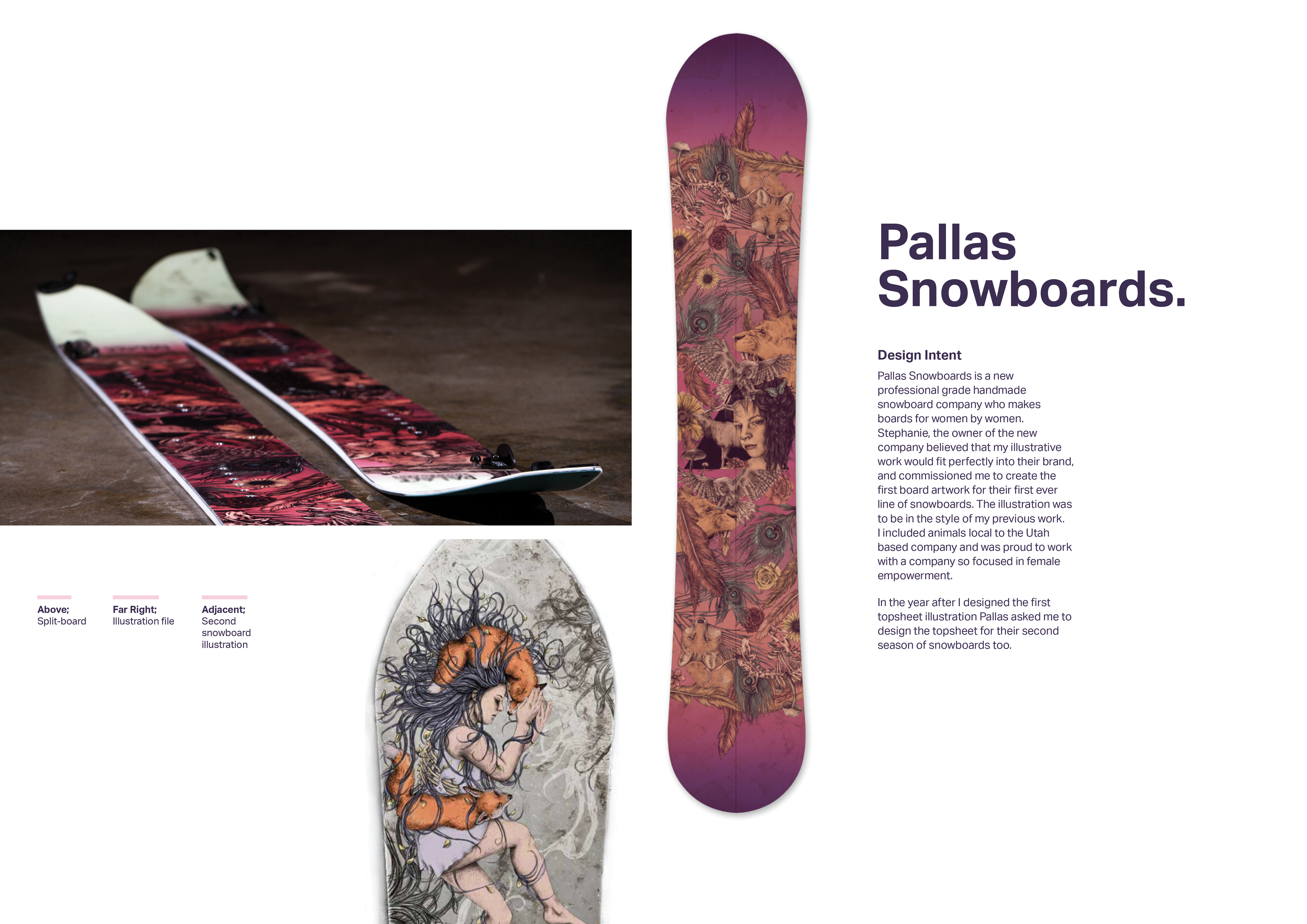 gemma davis pallas snowboards illustration