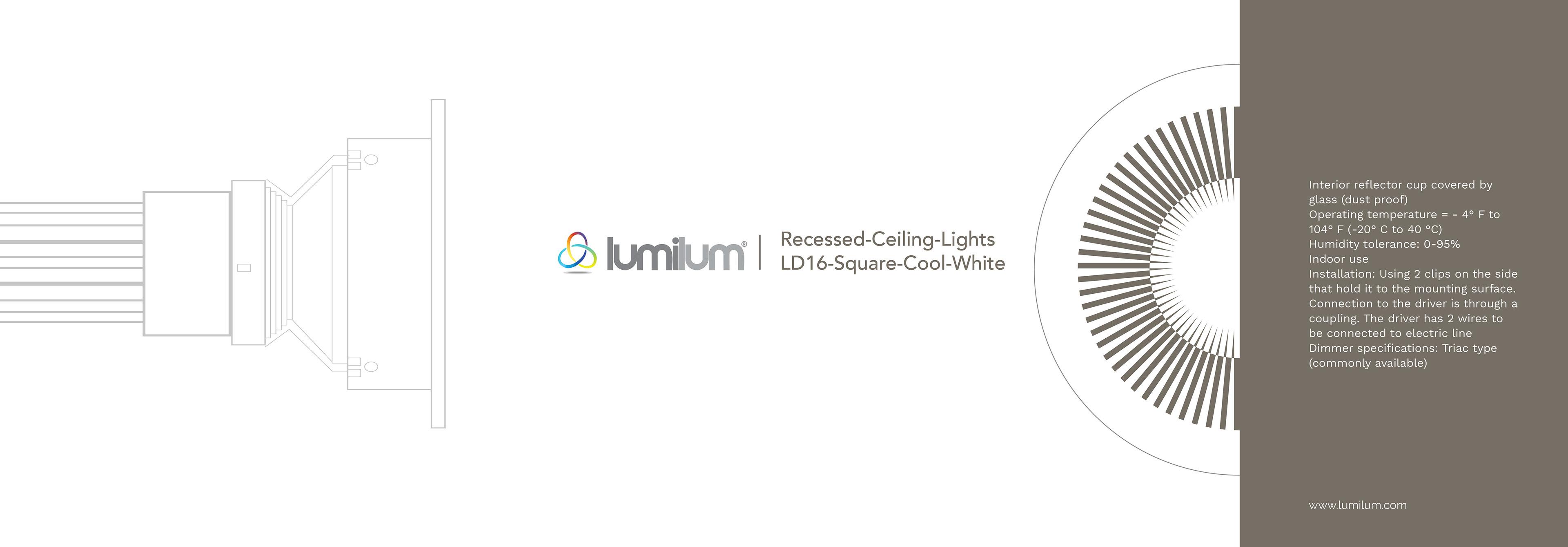 Folly Teko Luminum Ld16 Square Cool White Basic Triac Light Dimmer Circuit Diagram Concrete For Construction Materials