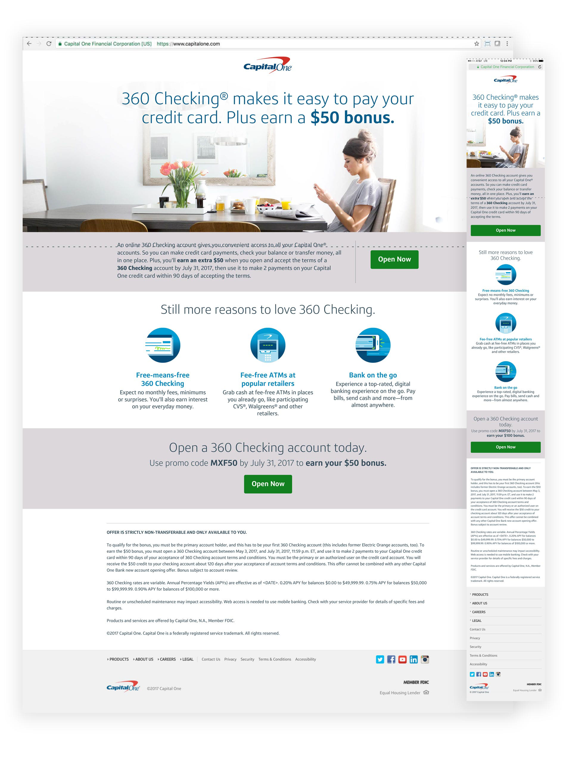 The Portfolio of Jason Nickens - CAPITAL ONE - VARIOUS PROJECTS