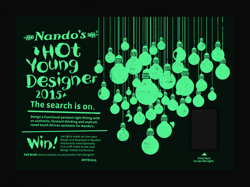 Glow In The Dark Poster For Nando S Young Designers Produced Sunshinegun