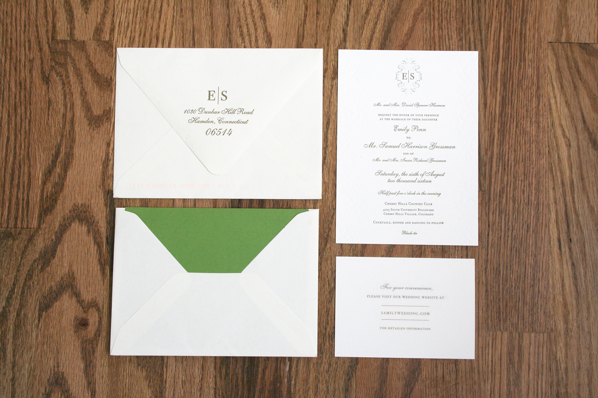 sam and emily wedding invitation suite - Sams Club Wedding Invitations