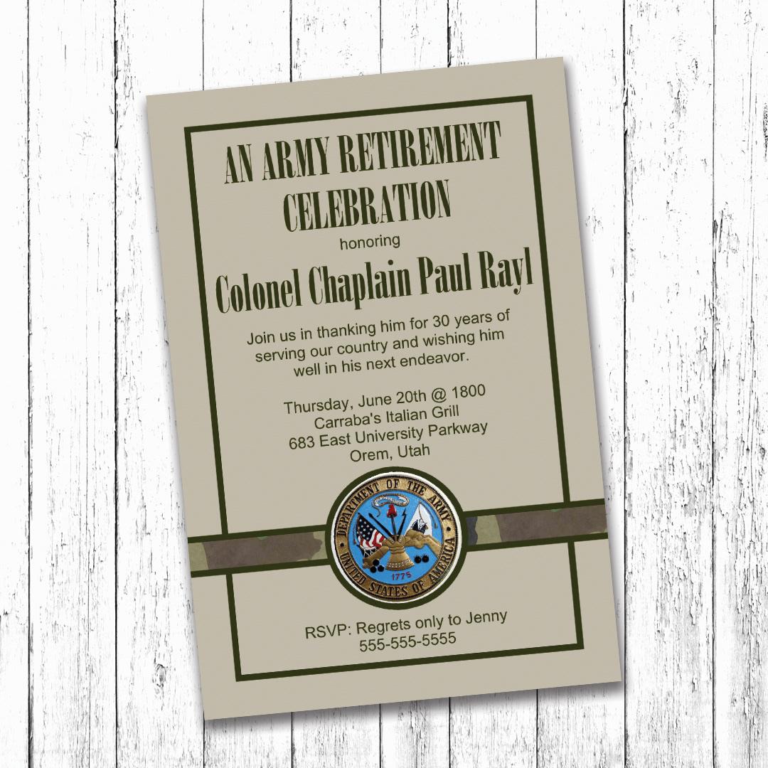 Camille Creates - Military Retirement Party Invitation