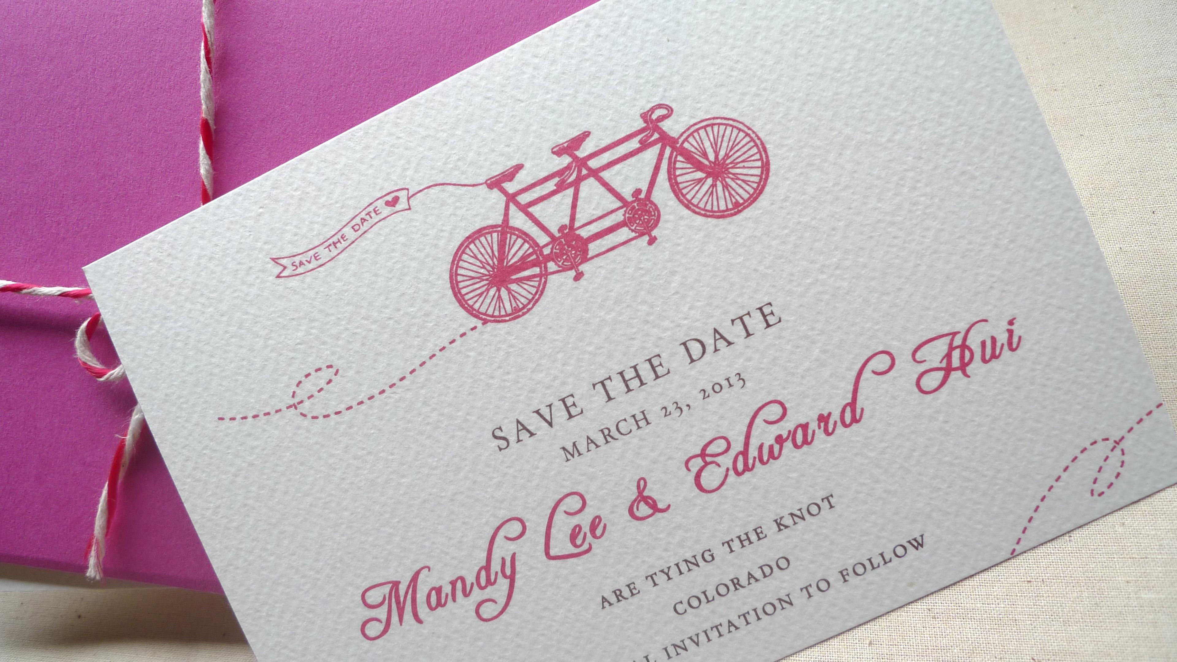 Ka Lo Chu - Spring Ride Wedding Invitation