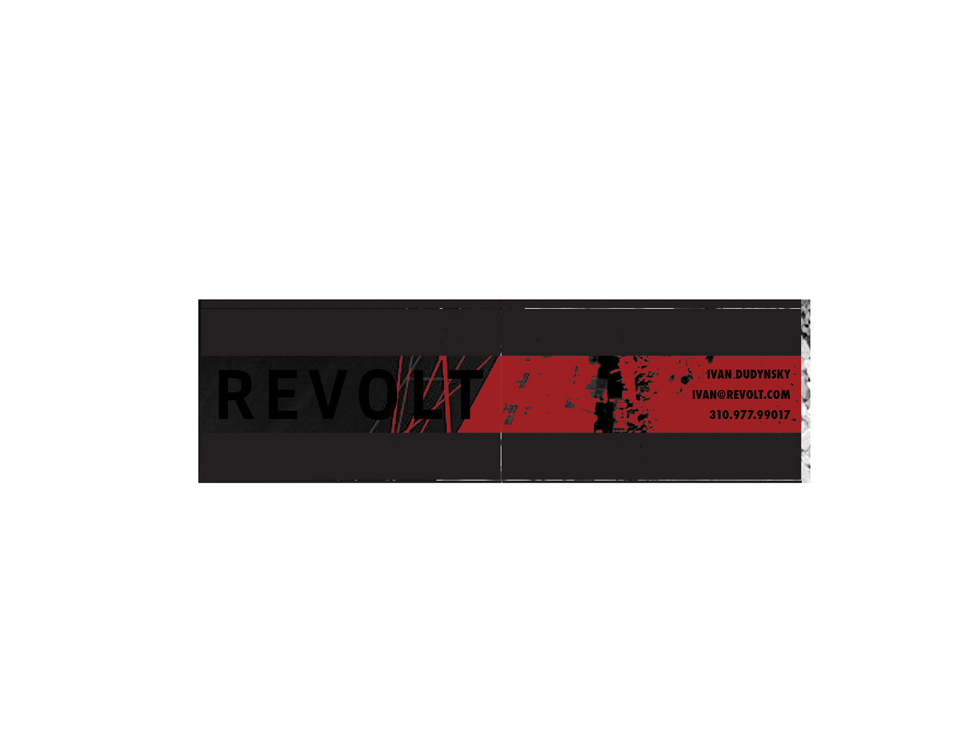 Rafael Amador - REVOLT TV Business Card Ideas