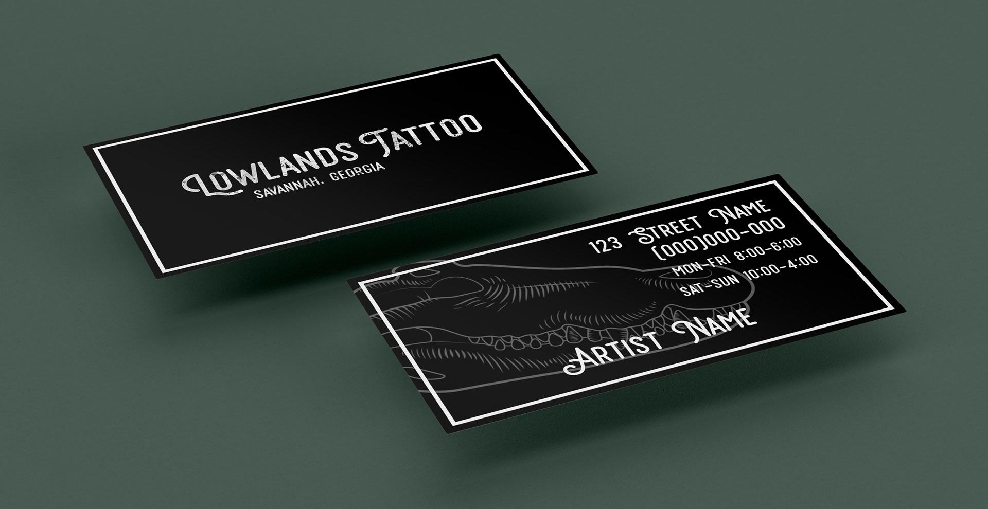 Mclean Carrington Lowlands Tattoo Shop Business Identity Concept
