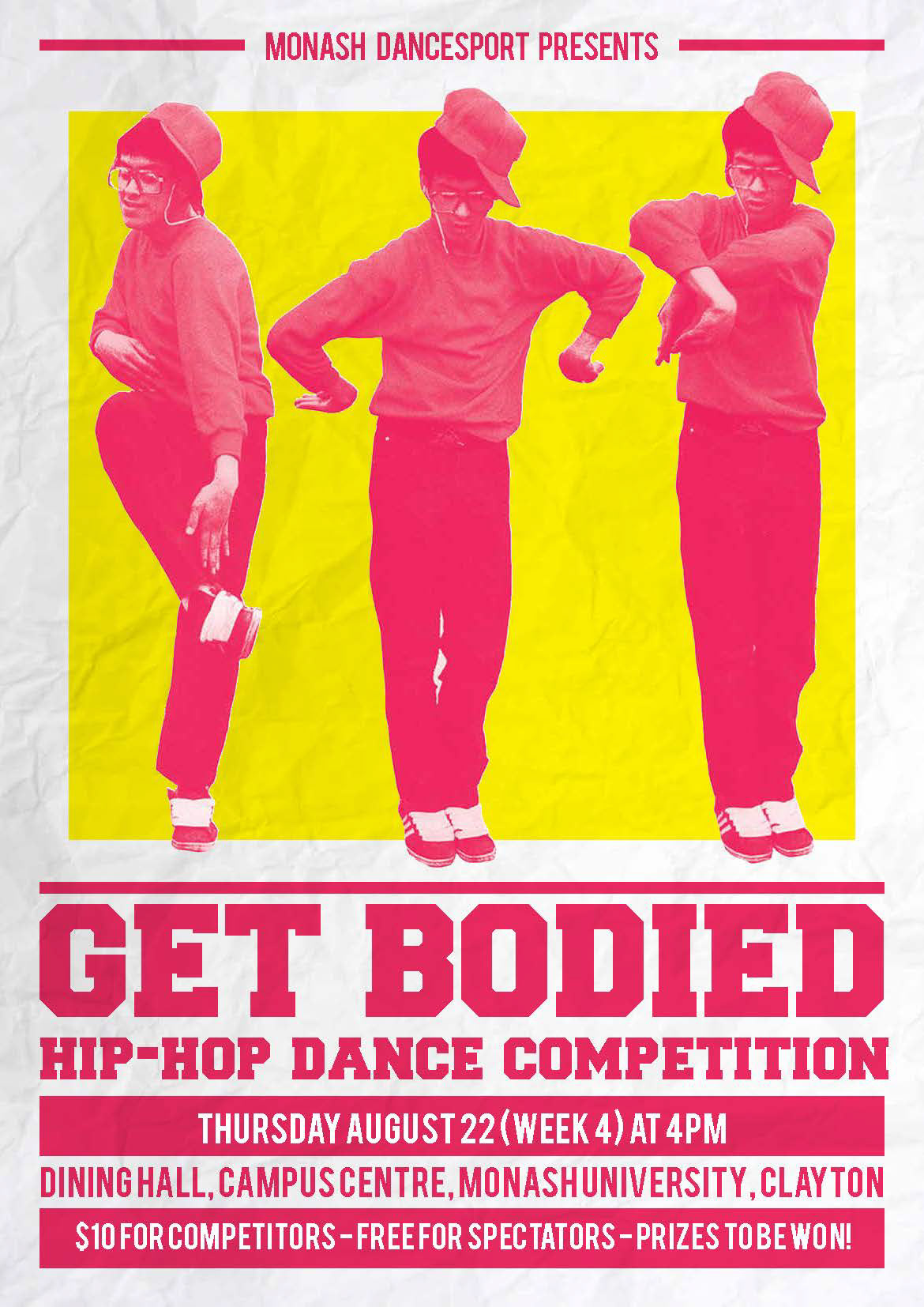 Marlo Guanlao - GET BODIED poster design