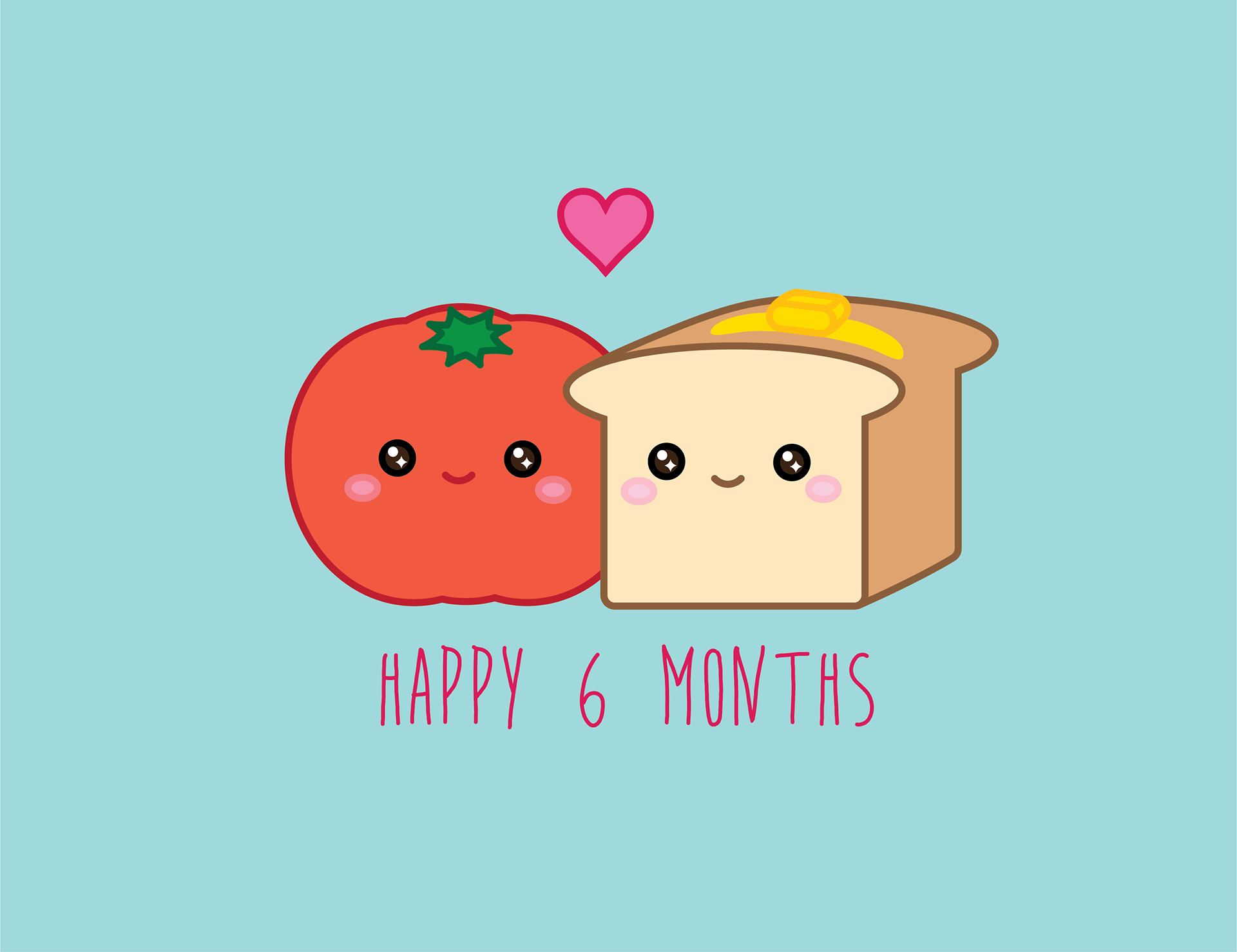 6 month anniversary card