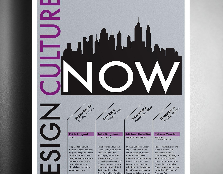 Glenn Whittington Graphic Design Portfolio - Design Culture Now Poster