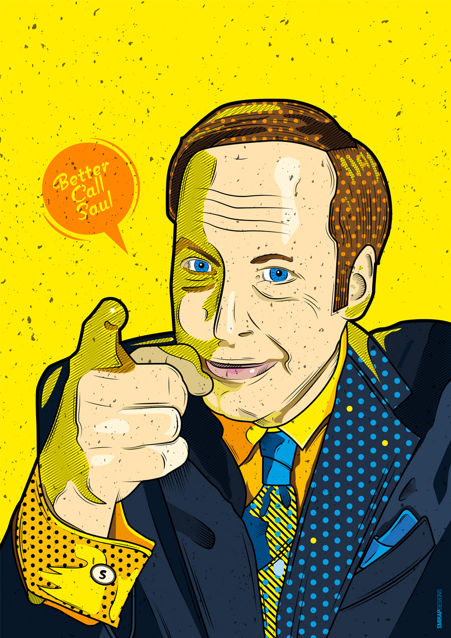 Mike karolos smirap designs better call saul also as something extra i made some concept business cards using this illustration plus the billboard from the show reimagined colourmoves