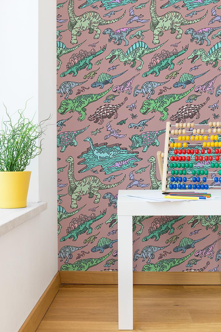 Ian Wenstrand - Dinosaur Coloring Wallpaper