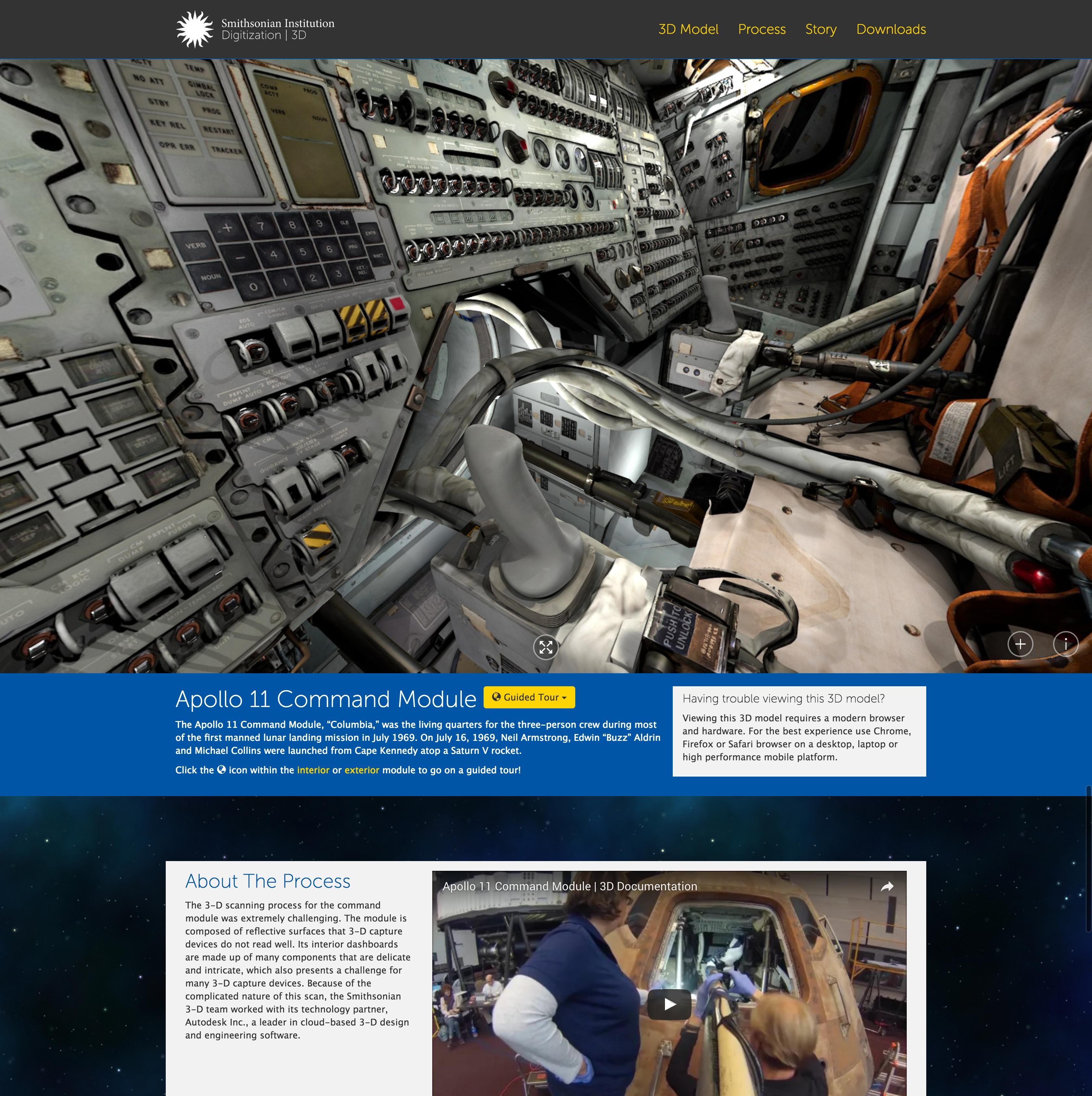Sean Heavey Portfolio Apollo 11 Command Module