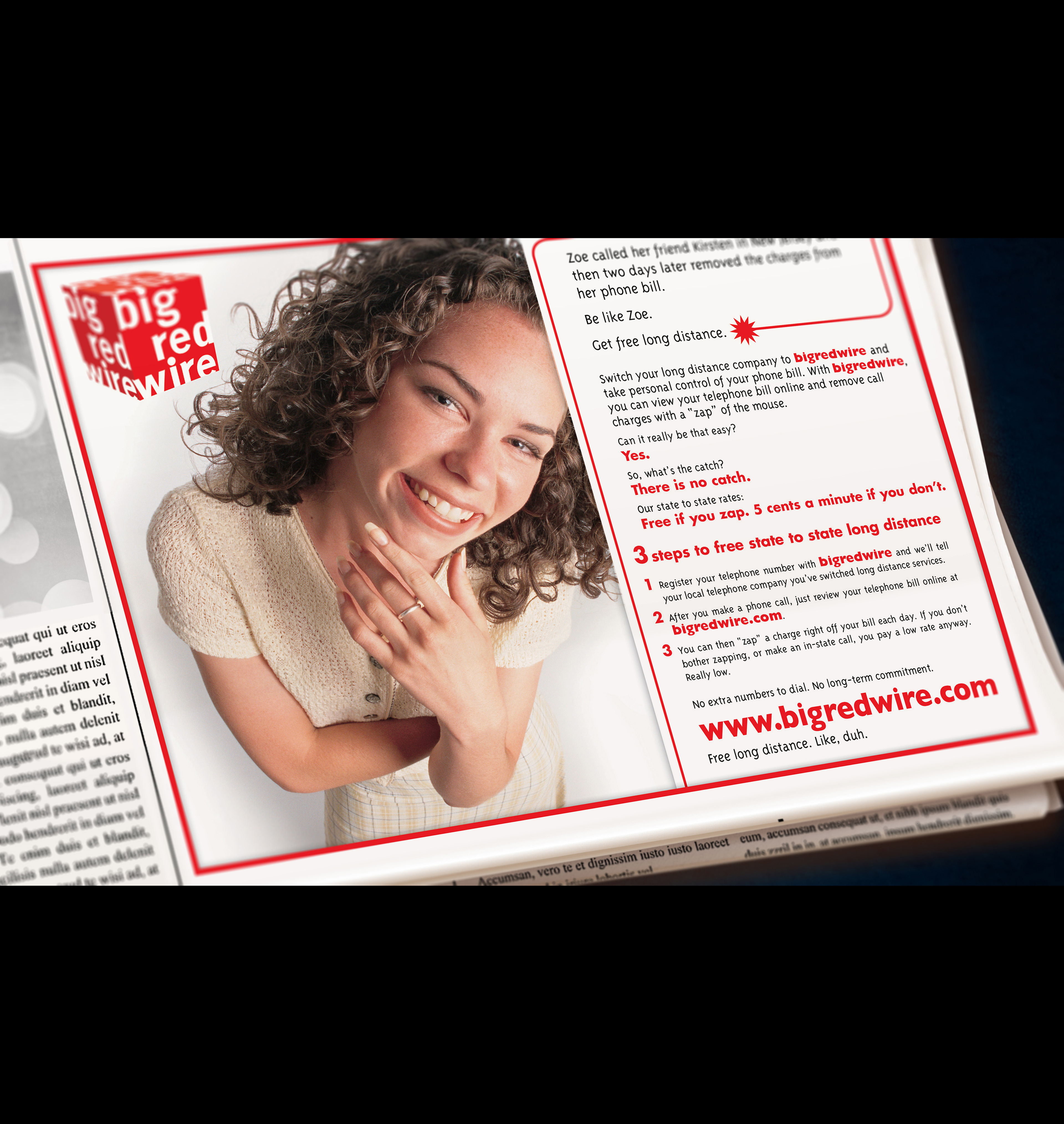Teresa Parks - Big Red Wire Ads
