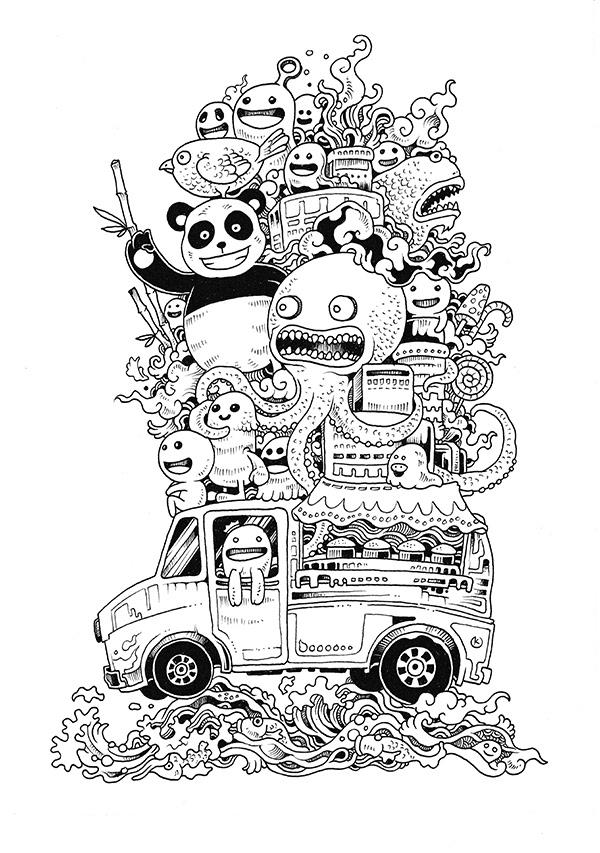 Kerby Rosanes Illustrator Portfolio Doodle Invasion