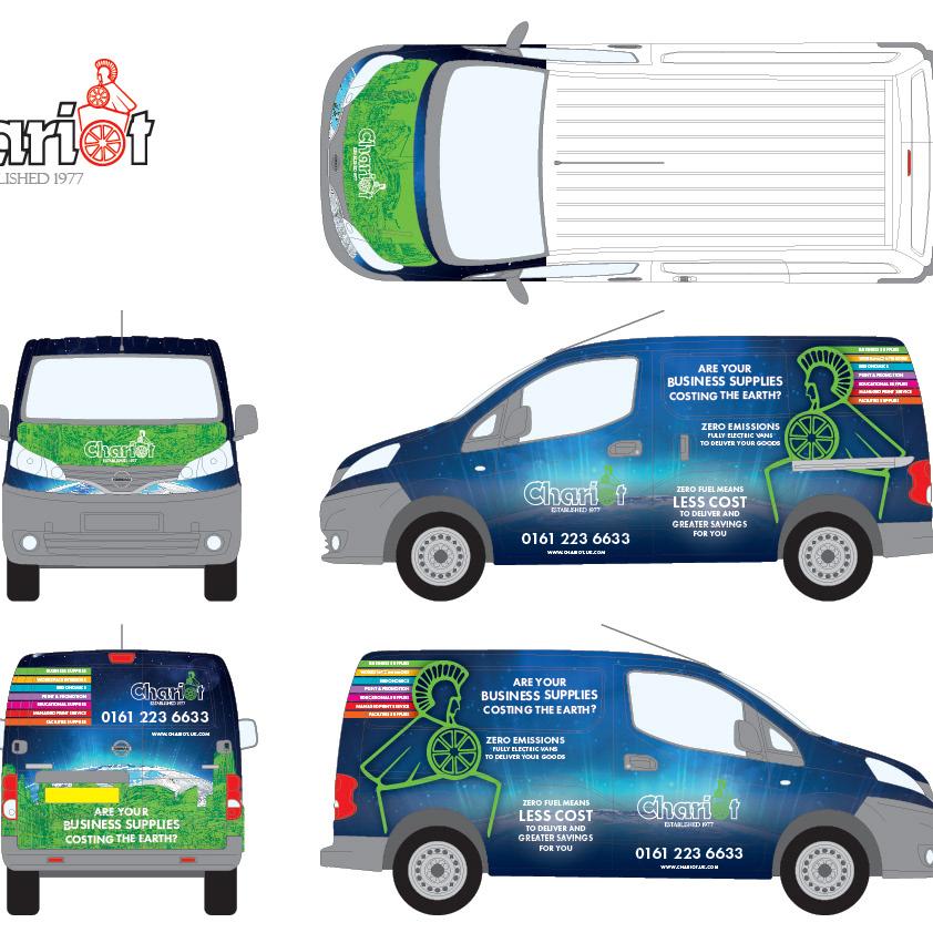 Chariot Office Supplies Van Livery