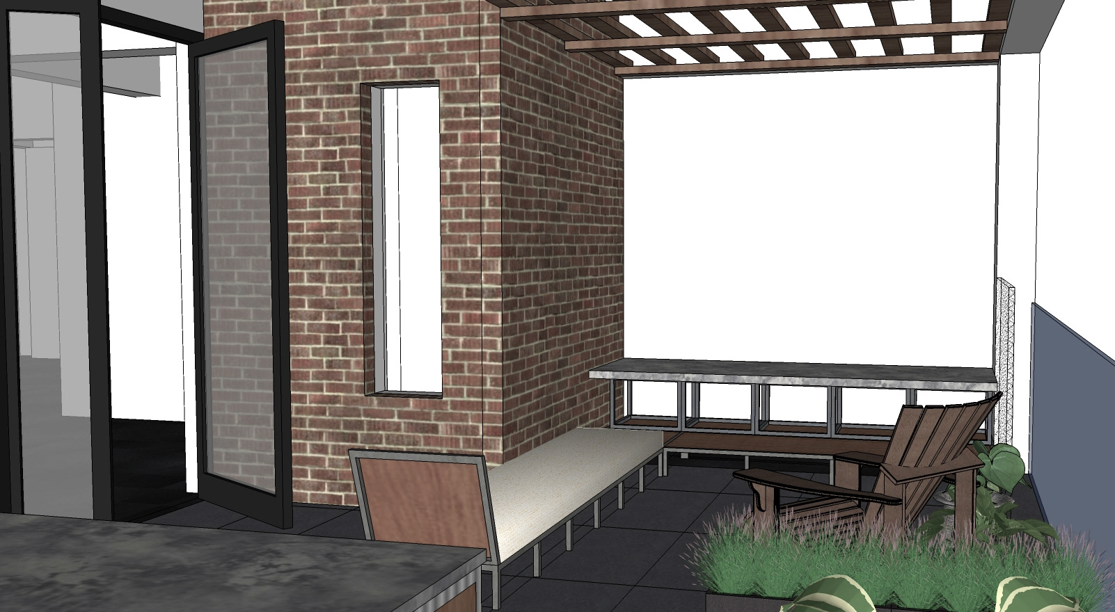 architectural design office. Design Of A Balcony Space To Capitalize On The Scenic View City\u0027s Largest Park, While Creating Semi-open Leisure For Small Gatherings. Architectural Office C