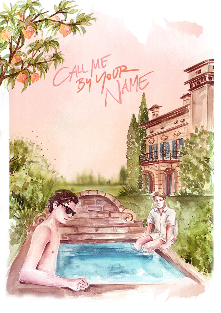 Camila Gray Call Me By Your Name Fan Art Poster
