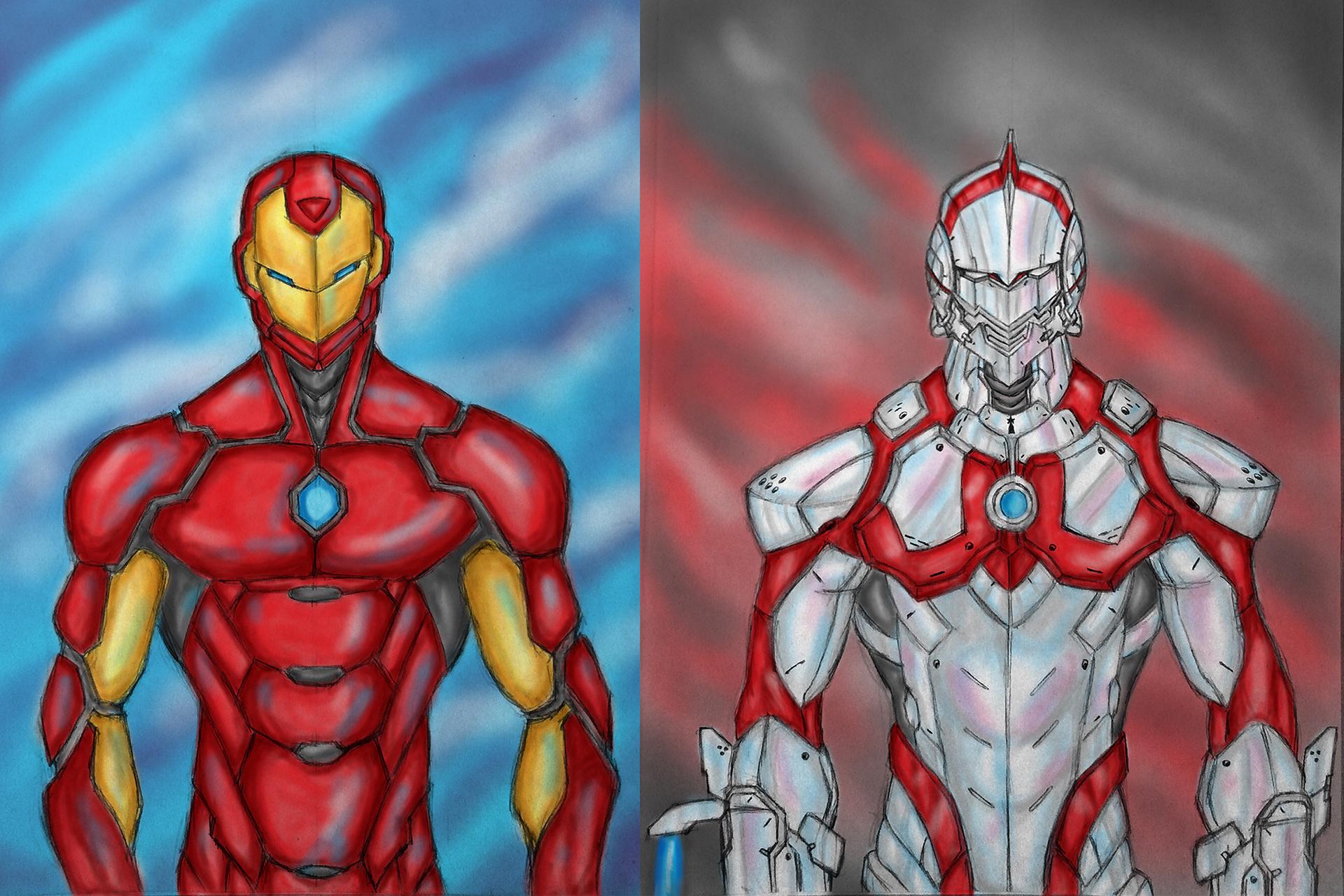 Edwin Binuya - Iron Man and Ultraman
