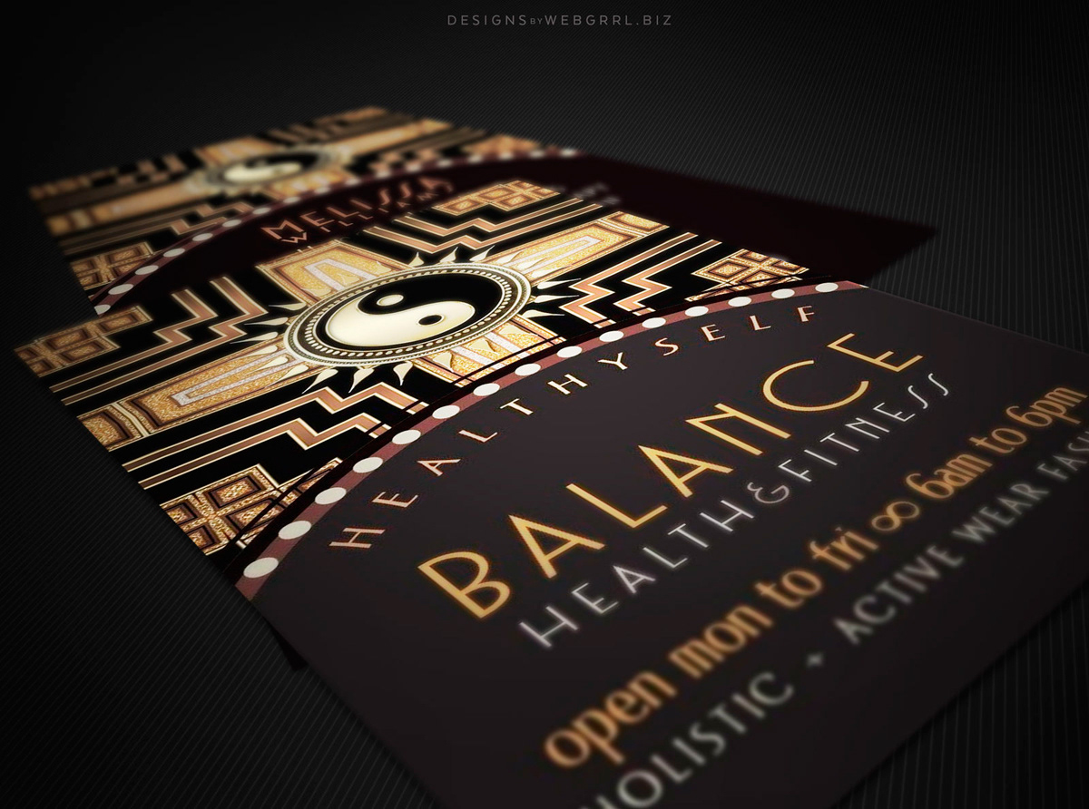 Webgrrl - Intuitive Digital Artist - New Age Deco Business Cards ...