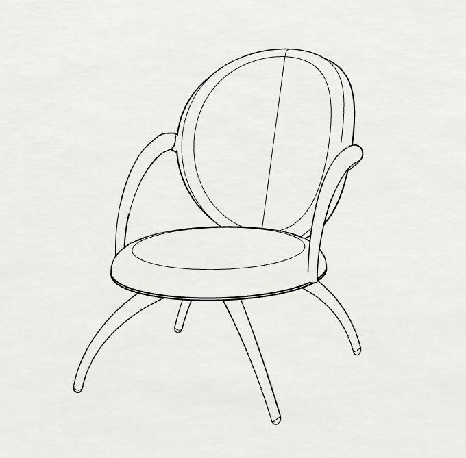 Deicy Cordero - 3D Render - Round Chair
