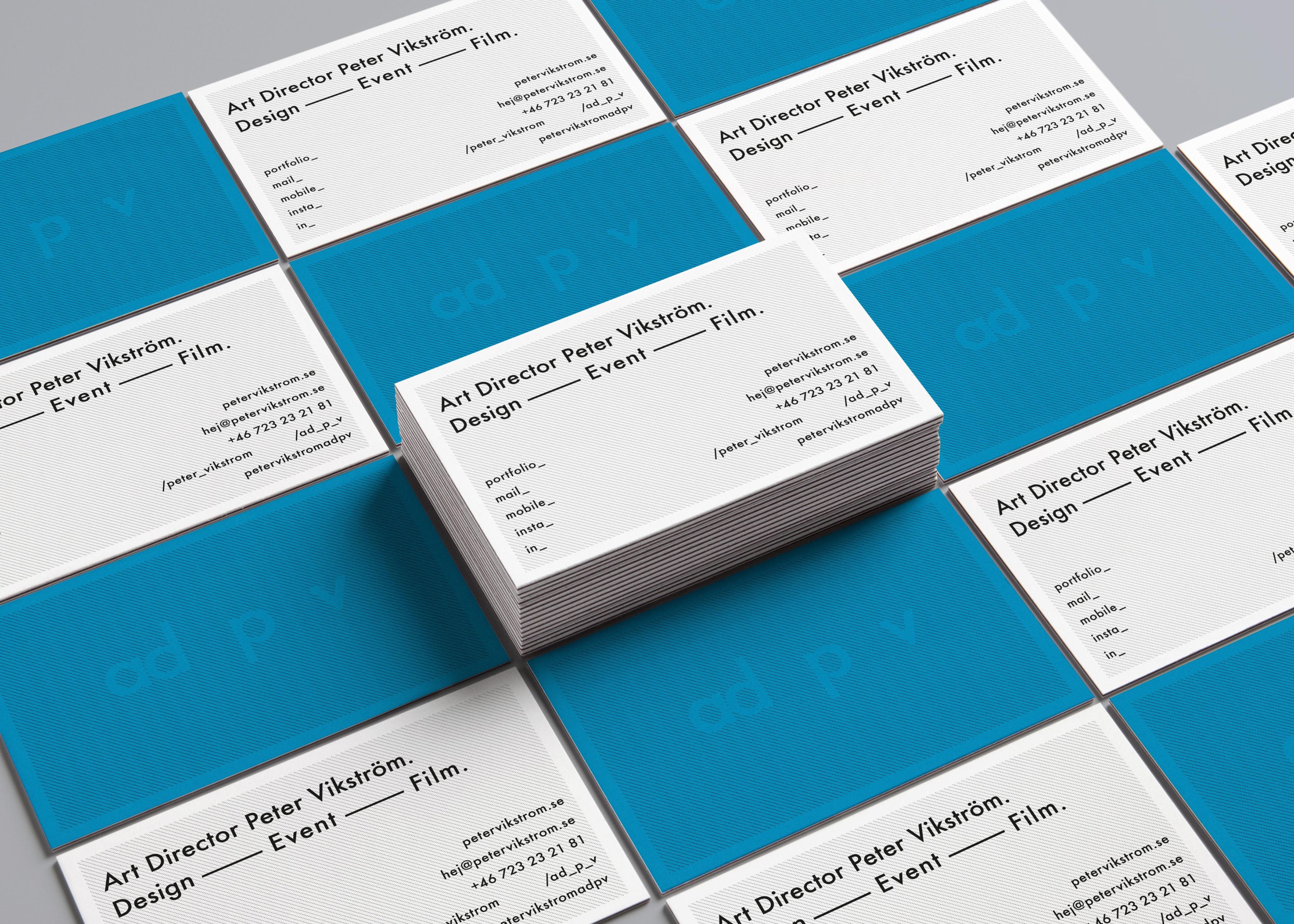 Art Director Peter Vikström ____ ad p v - ad p v ____ Business Card
