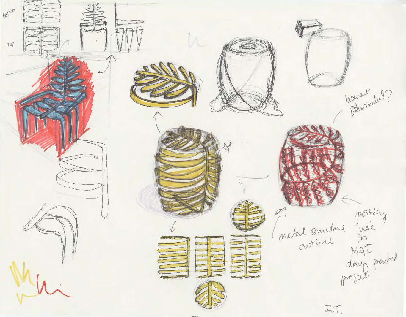 Fiona Tien - Drawings: Nature to Furniture