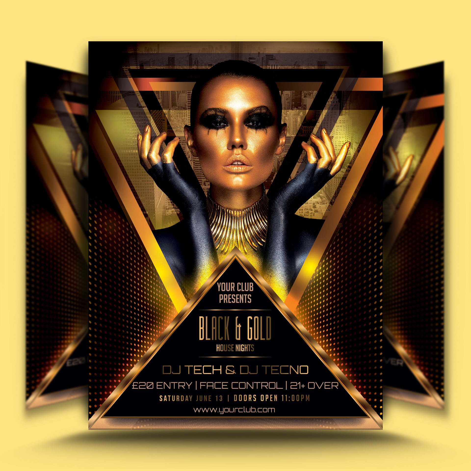 designroom1229 black gold flyer template