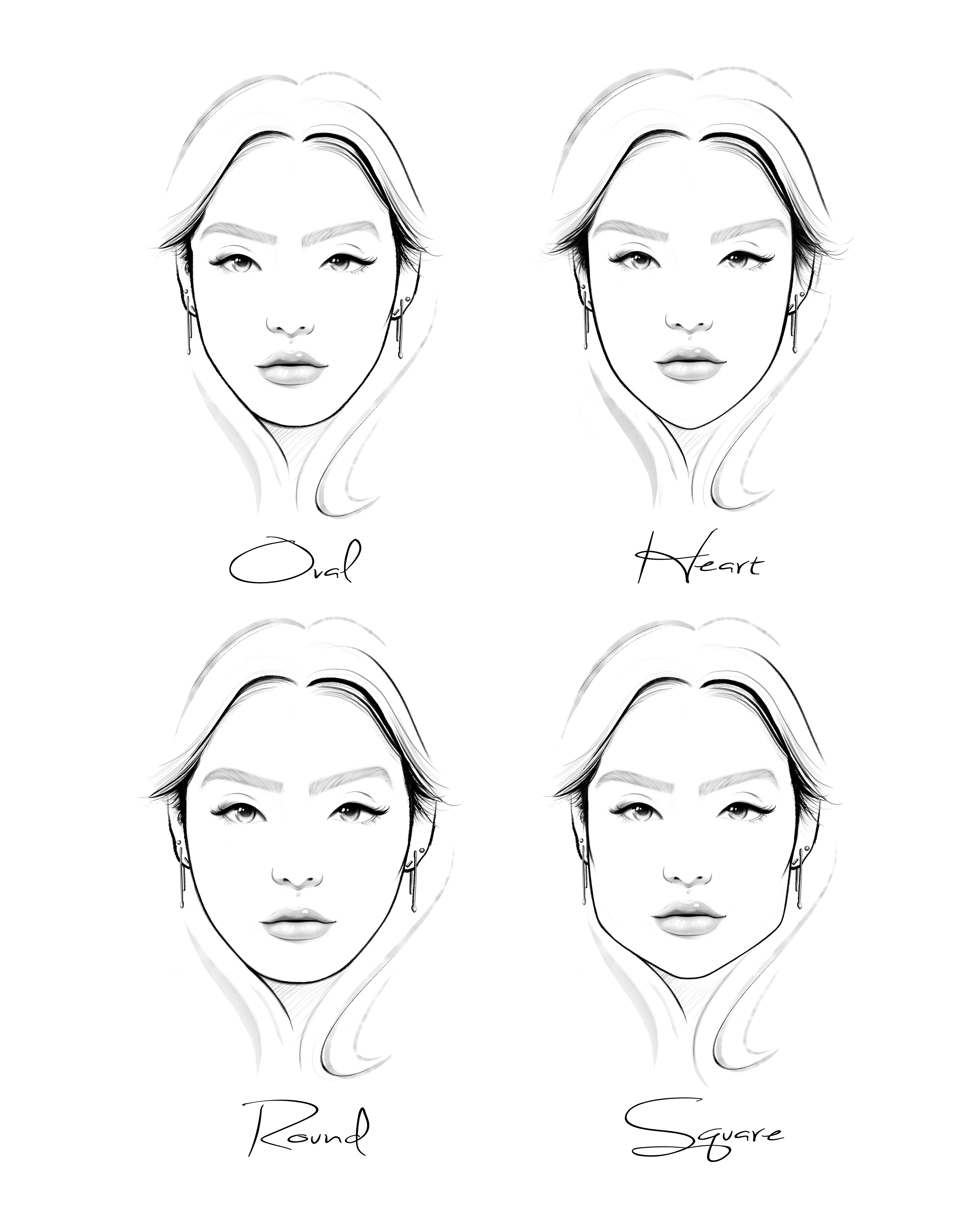 Для, картинка формы лица
