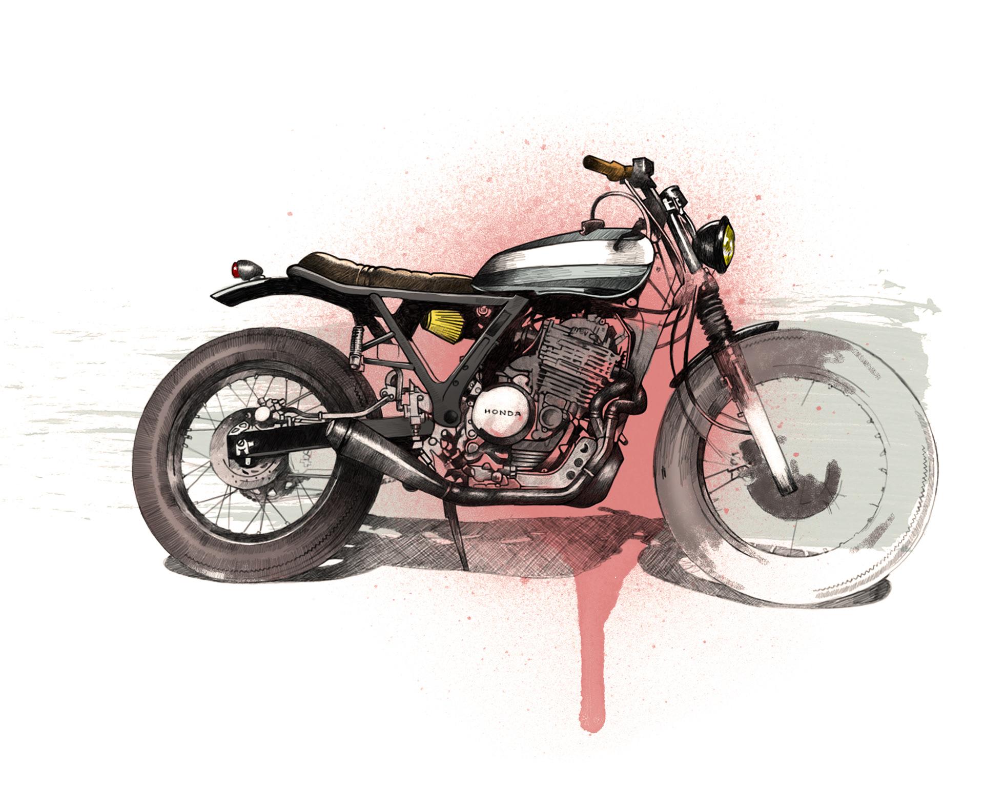 Oscar Llorens Illustration Cafe Racer Project