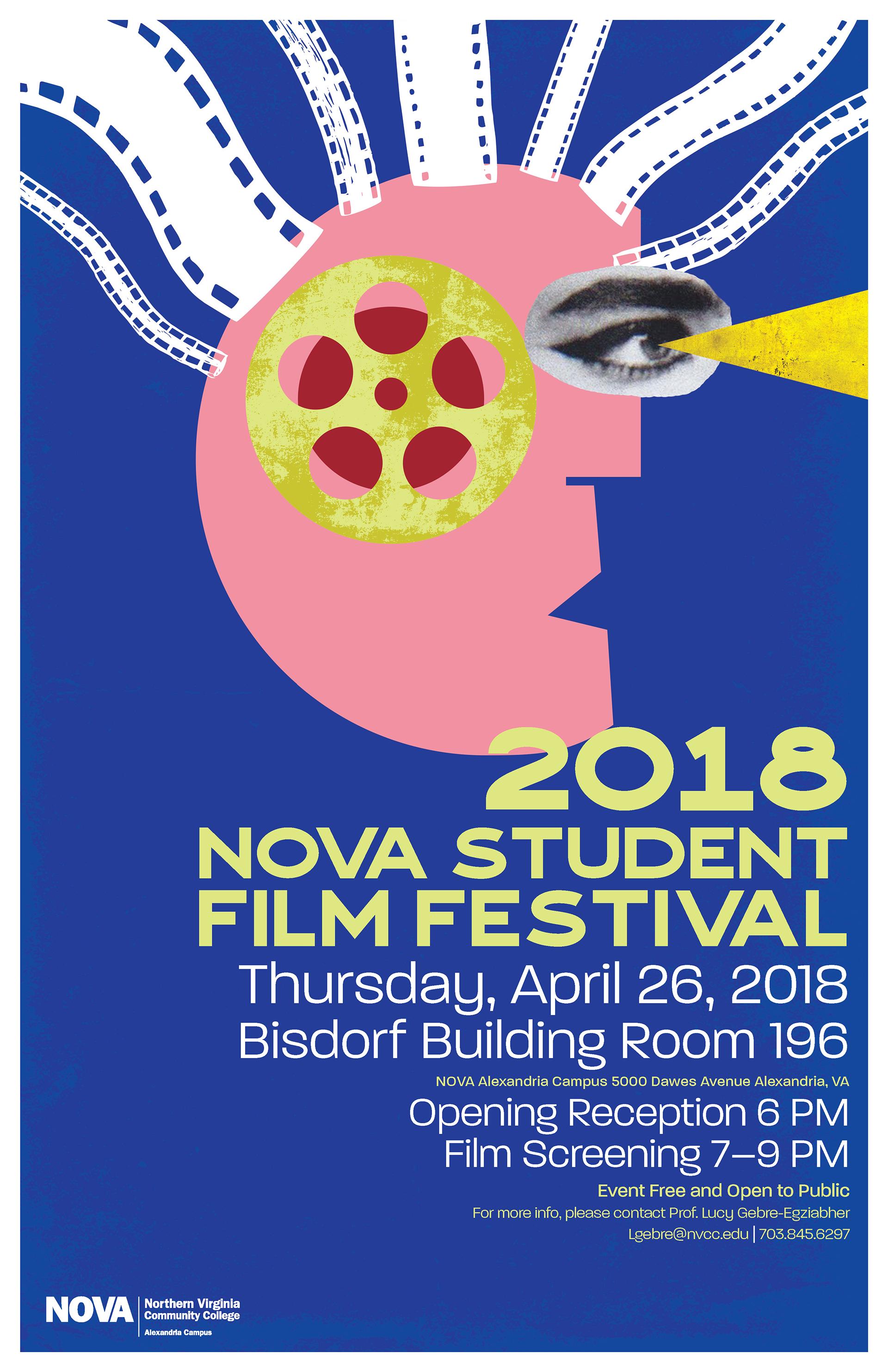 2018 NOVA Student Film Festival Poster