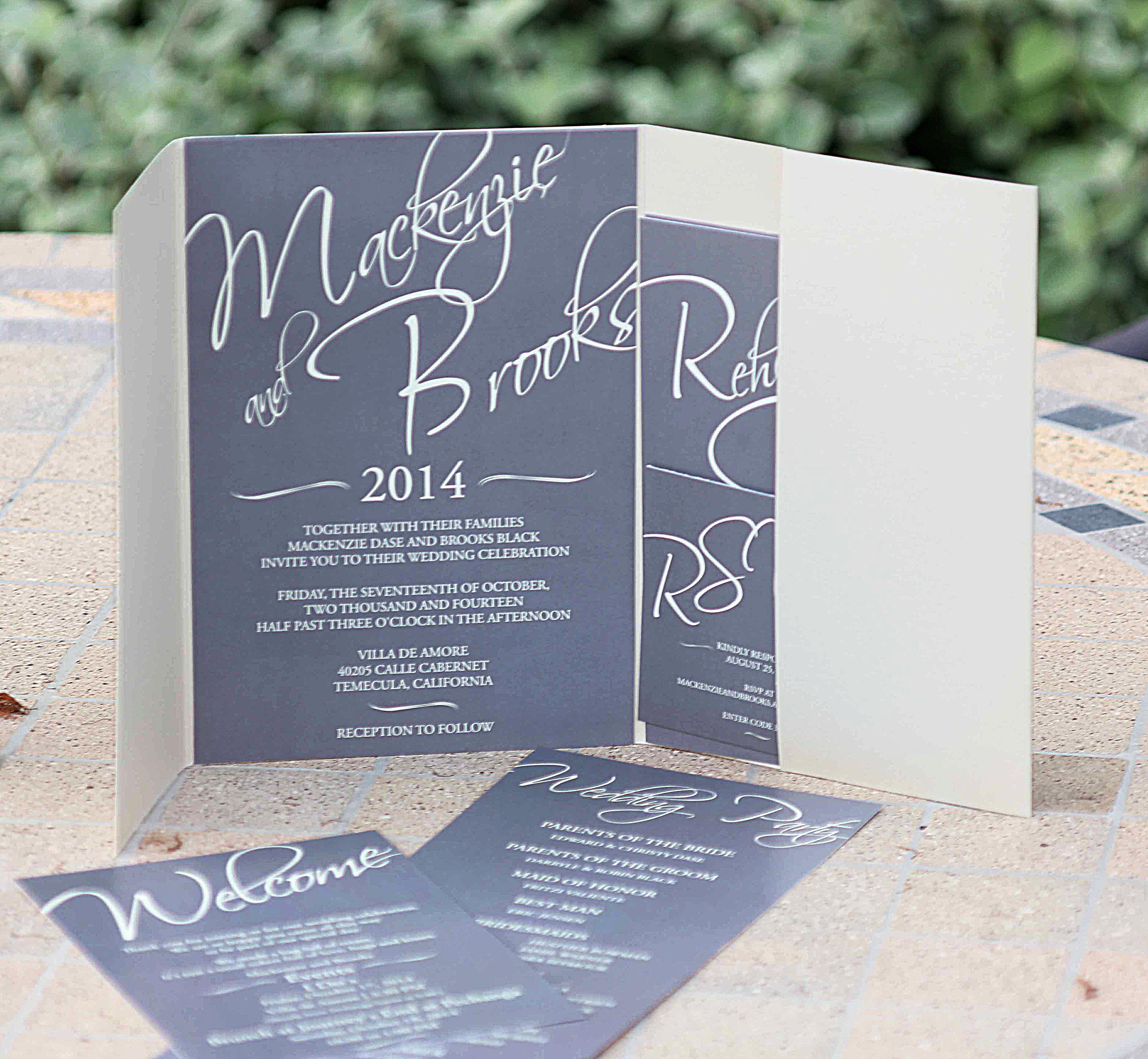 brooks black - Wedding Invitations