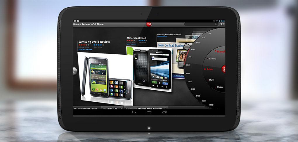 Matthew McLemore Award Winning UI/UX Designer - Cnet Android tablet App