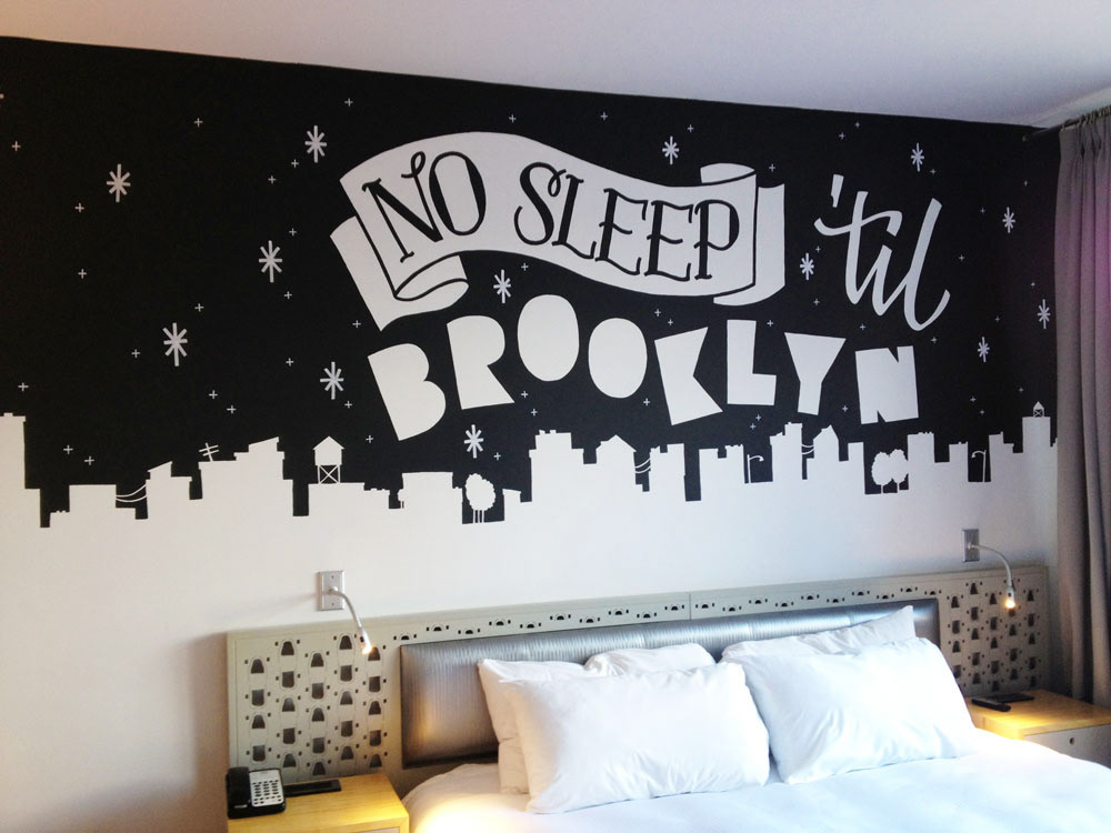 Dirty bandits annica lydenberg hand lettering murals for Mural lettering