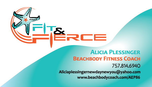 Kelly cox fit fierce logo and business card design please contact my dear friend alicia plessinger beachbody fitness coach to assist you with reaching your personal weight loss goals colourmoves