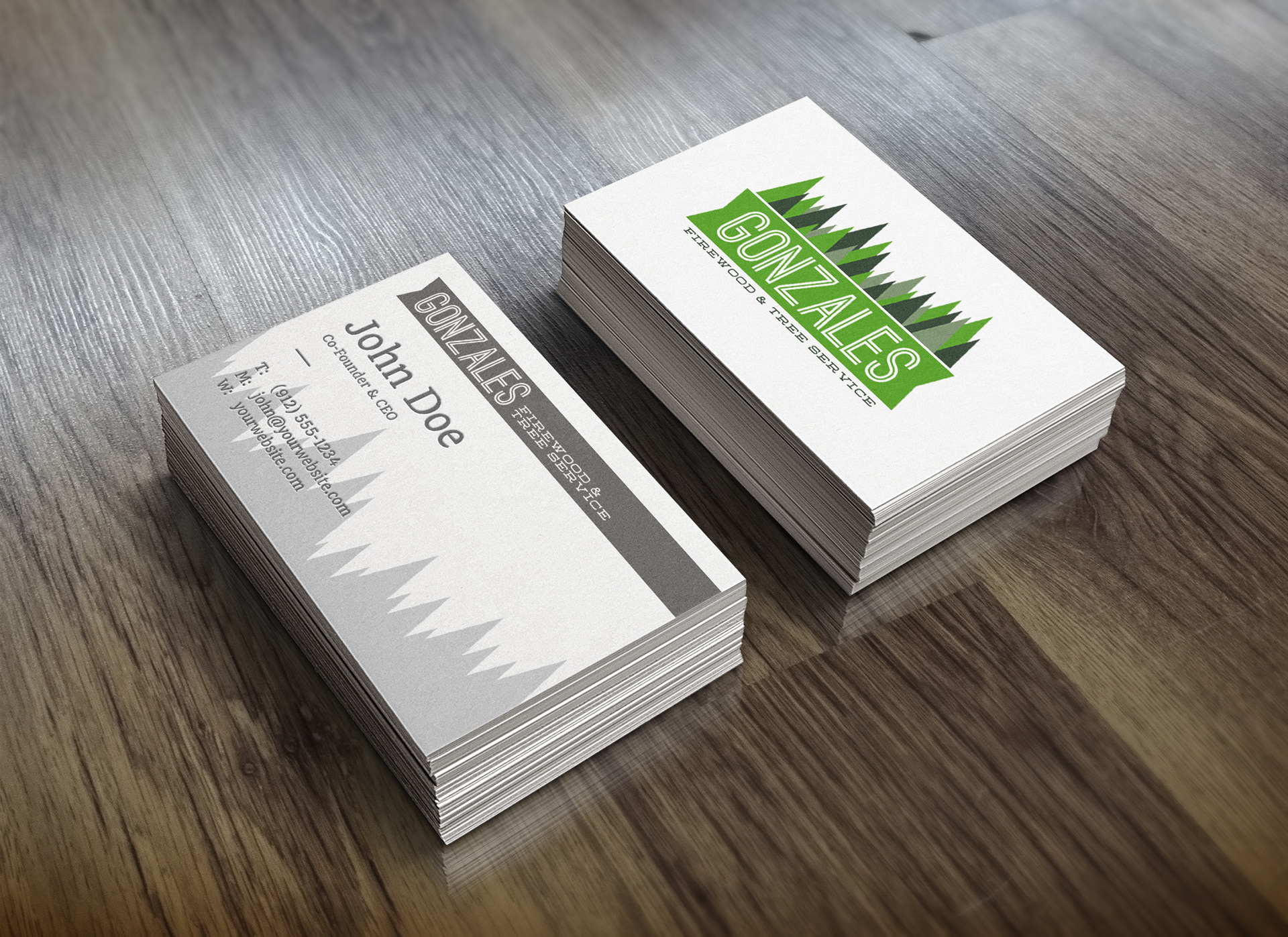 Jacob Chavez - Gonzales Firewood & Tree Service Business Cards