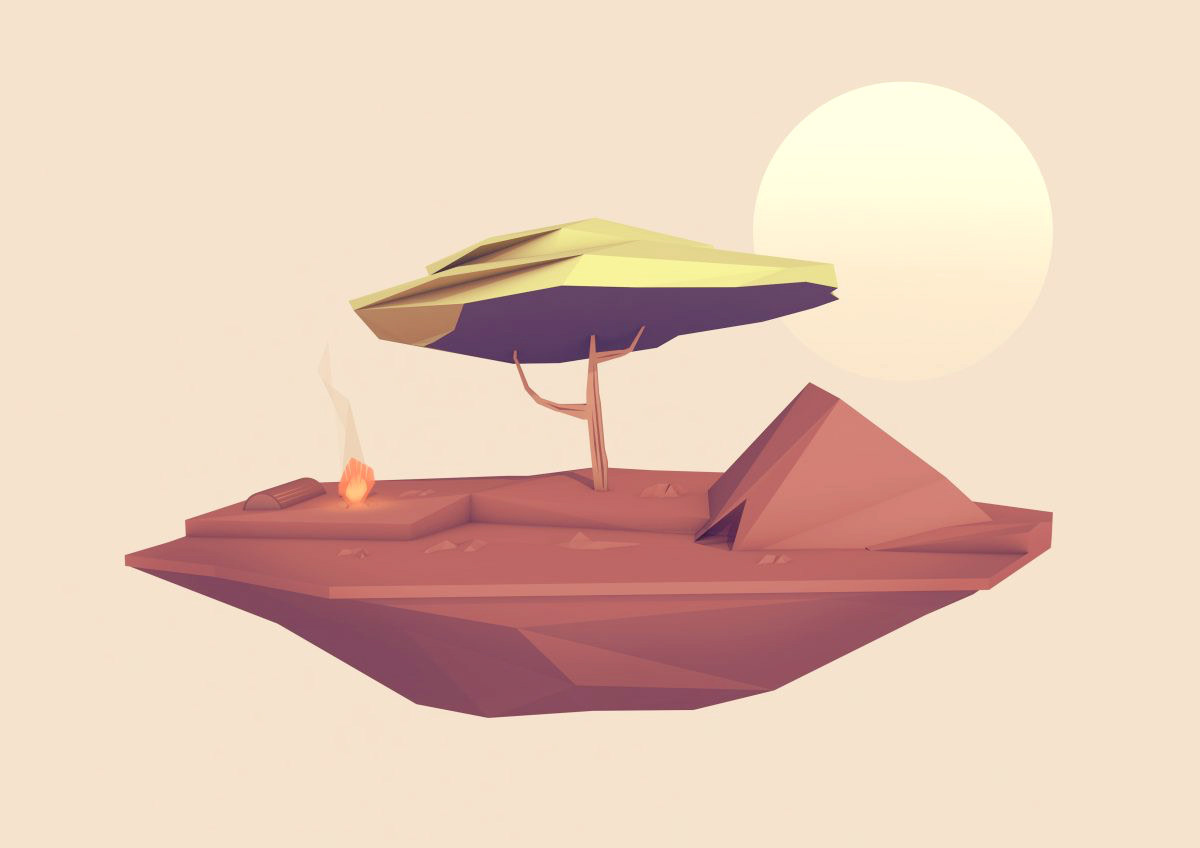 Alexander Gomez - Low-Polygon 3D Islands