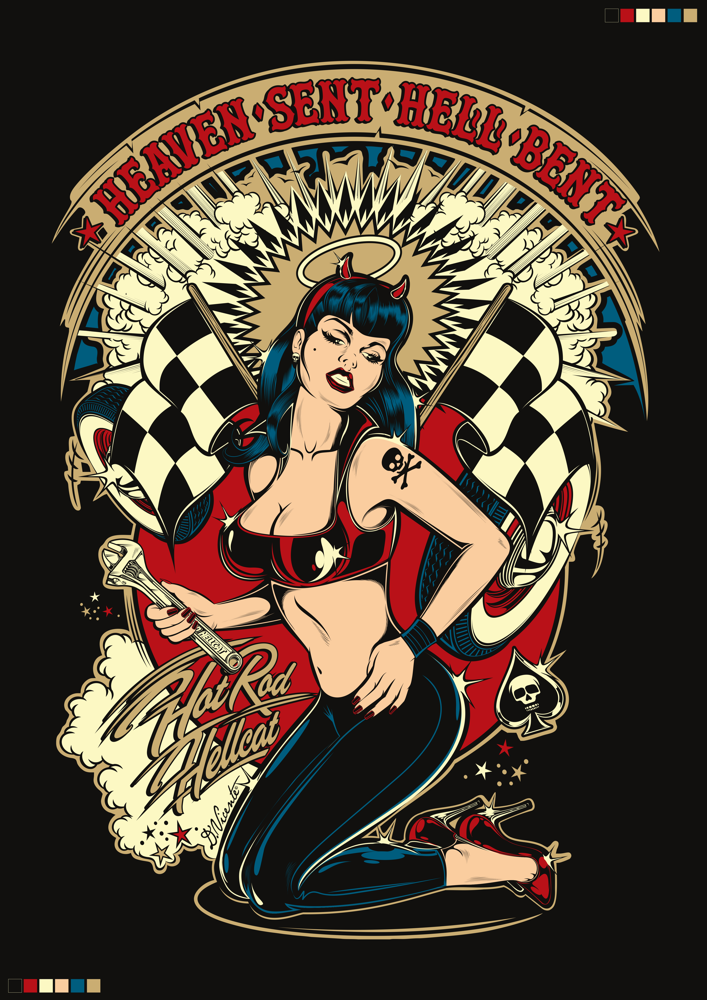 Psychobilly pin up 6