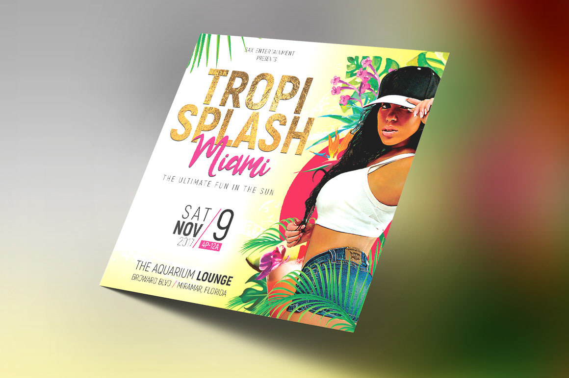 michael taylor godserv print template portfolio tropical party