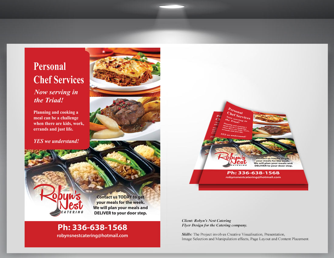 vibsdesigns flyer design for catering company