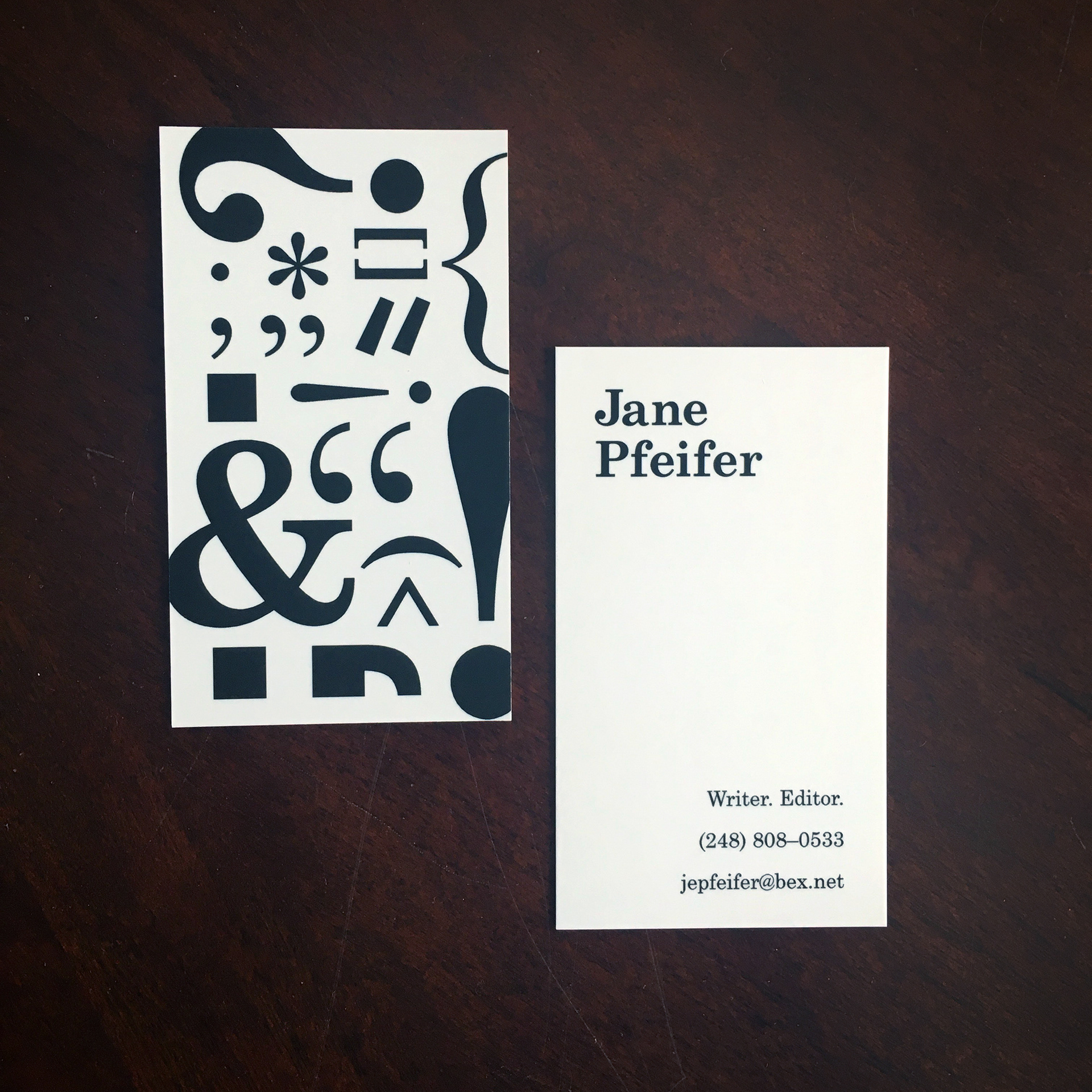 Alyssa Warner - Jane Pfeifer Business Cards