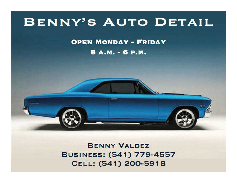 Click Creative - Business Cards: Benny\'s Auto Detail