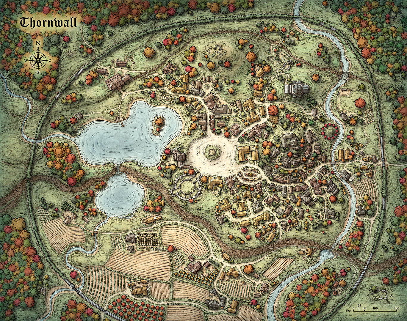 Fictional City Maps on castle home plans medieval