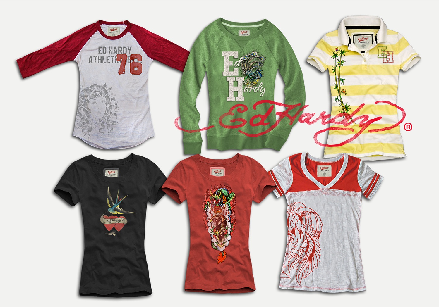 The Ed Hardy Collection was made up of men s and women s apparel groups  that spanned every category of clothing and accessories production. f488e6d431