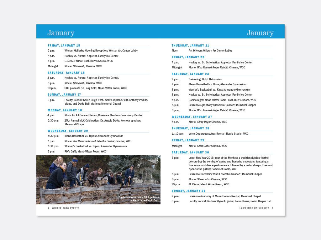 Monique Brickham's Portfolio - Calendar of Events: Spring 2016
