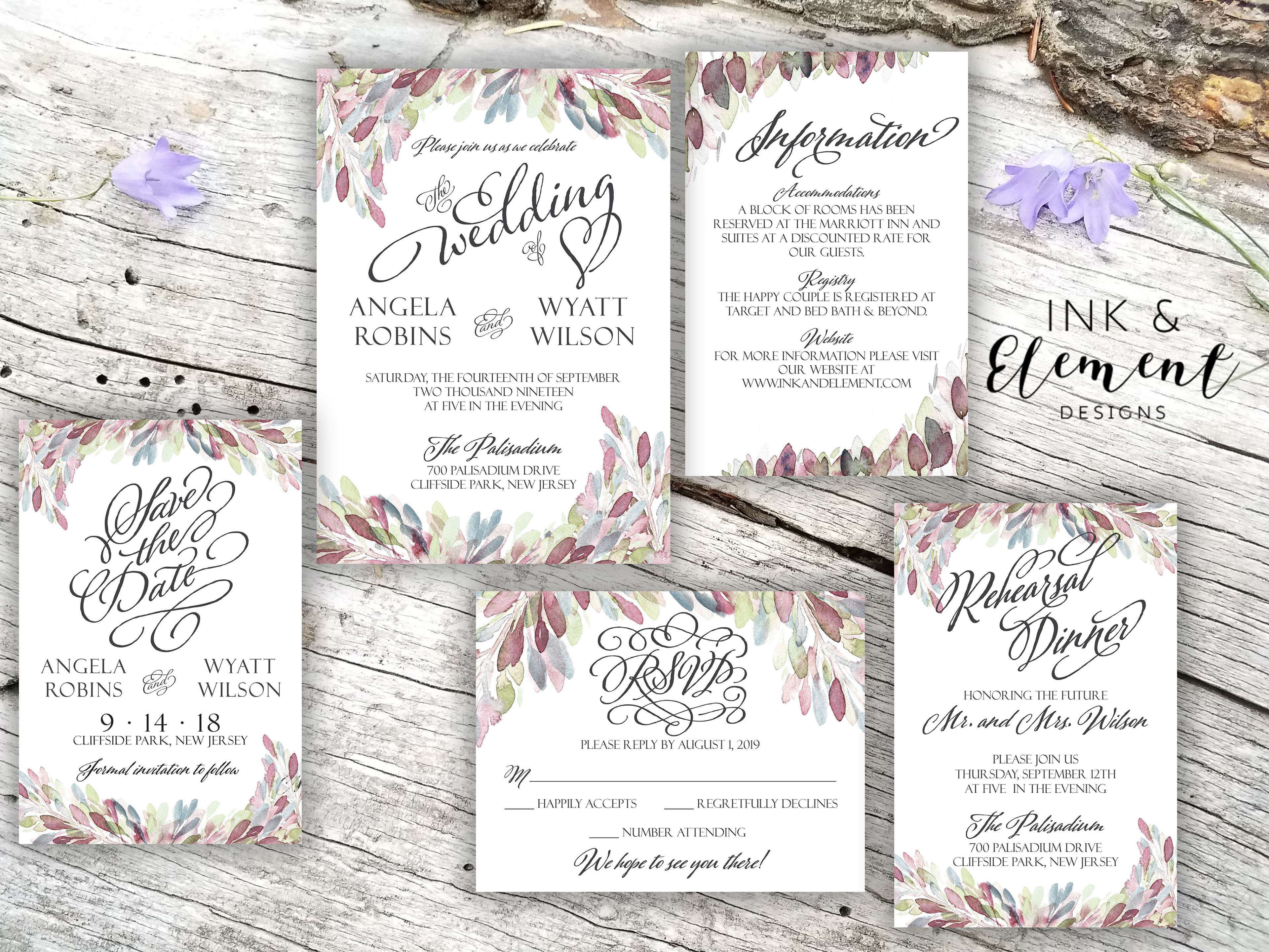 Ink and Element Designs - Weddings